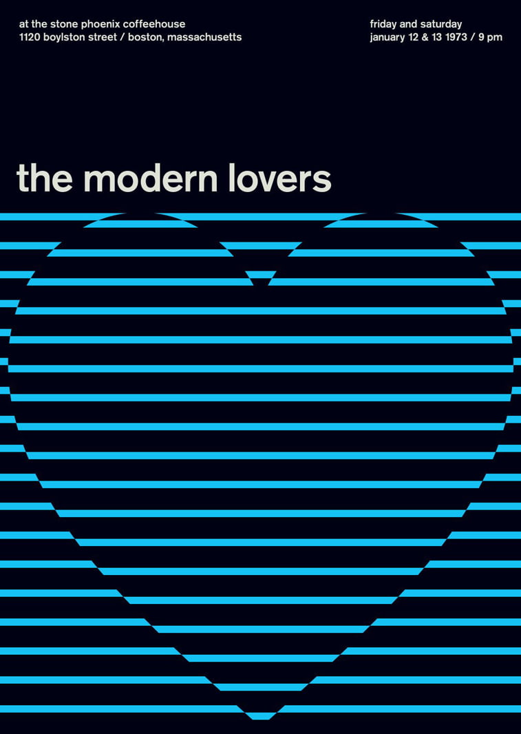 modern lovers swissted poster