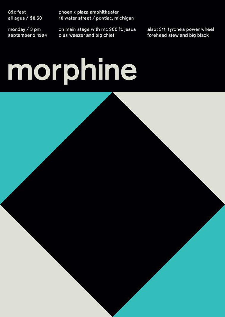 morphine swissted poster