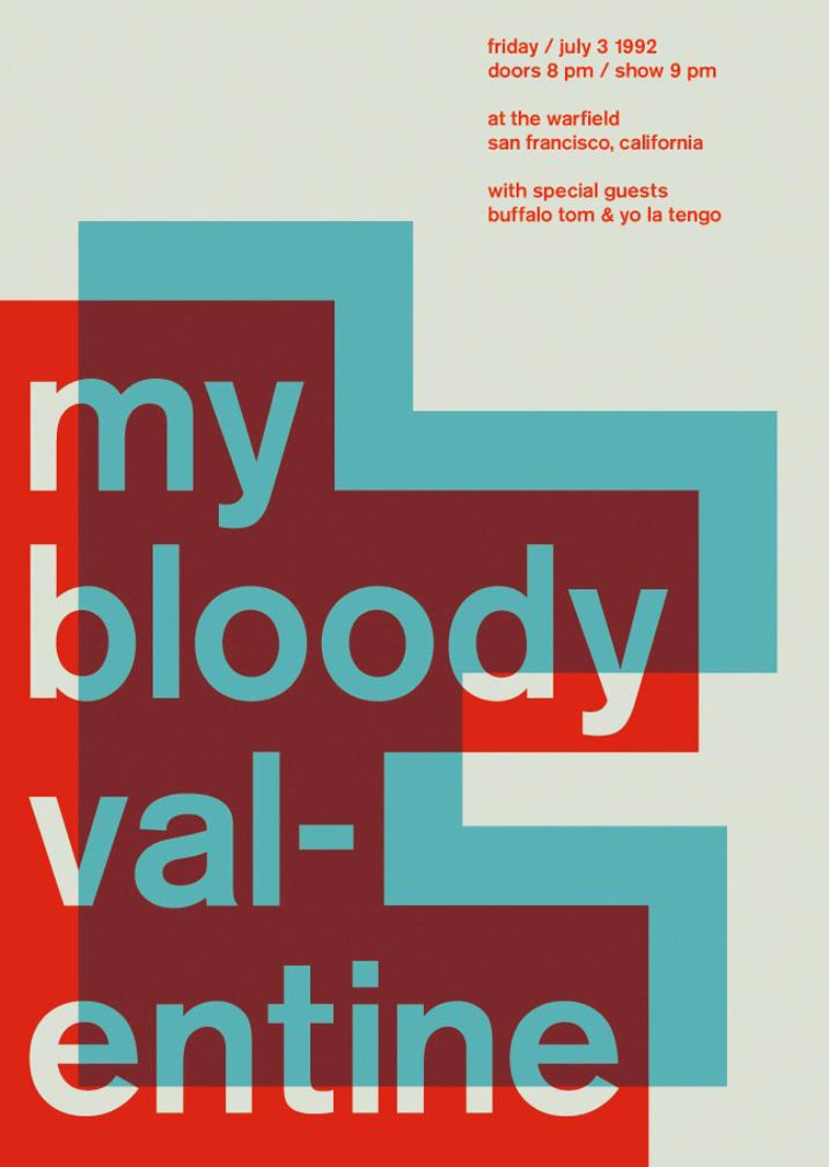 my bloody valentine swissted poster