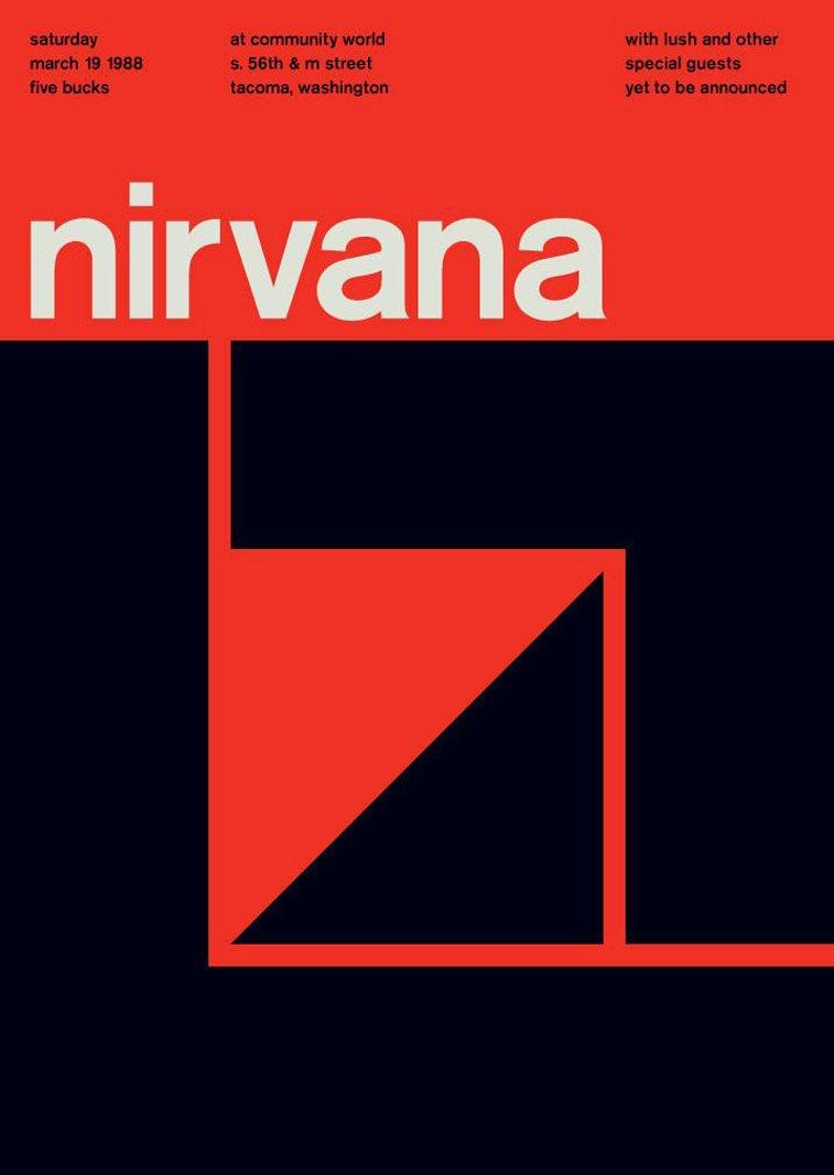 nirvana swissted poster