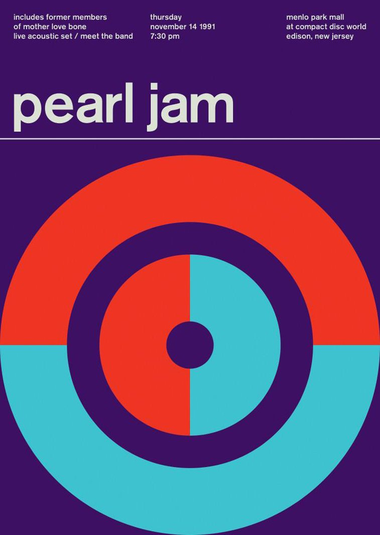 pearl jam swissted poster