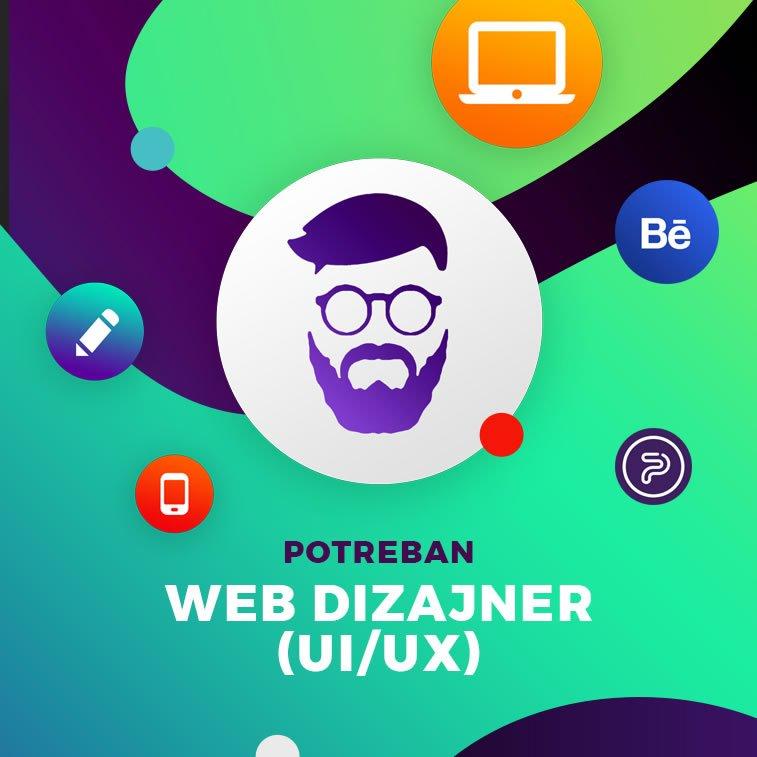 Potreban veb dizajner (UI/UX)