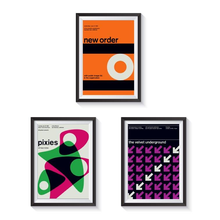 Posteri Majka Džojsa dizajnirani u švajcarskom stilu