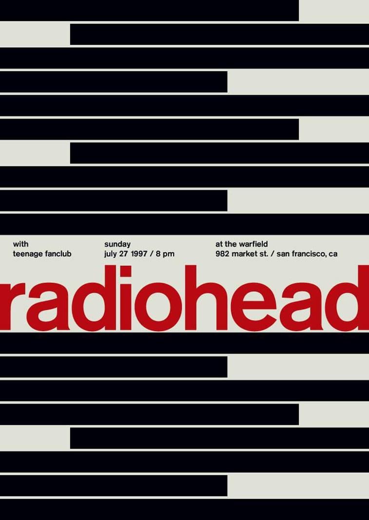 radiohead radiohead poster