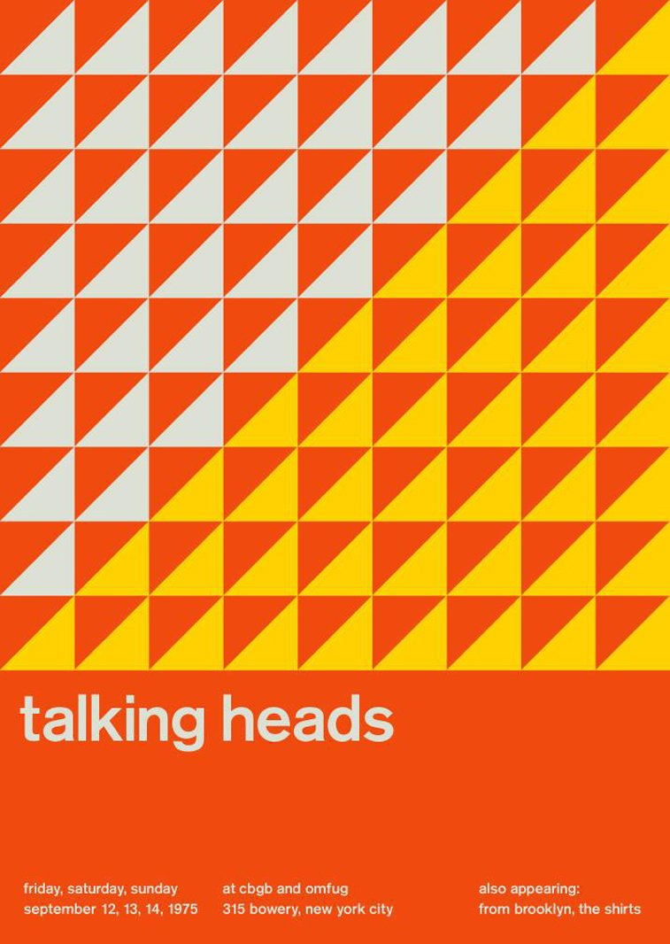 talking heads swissted poster