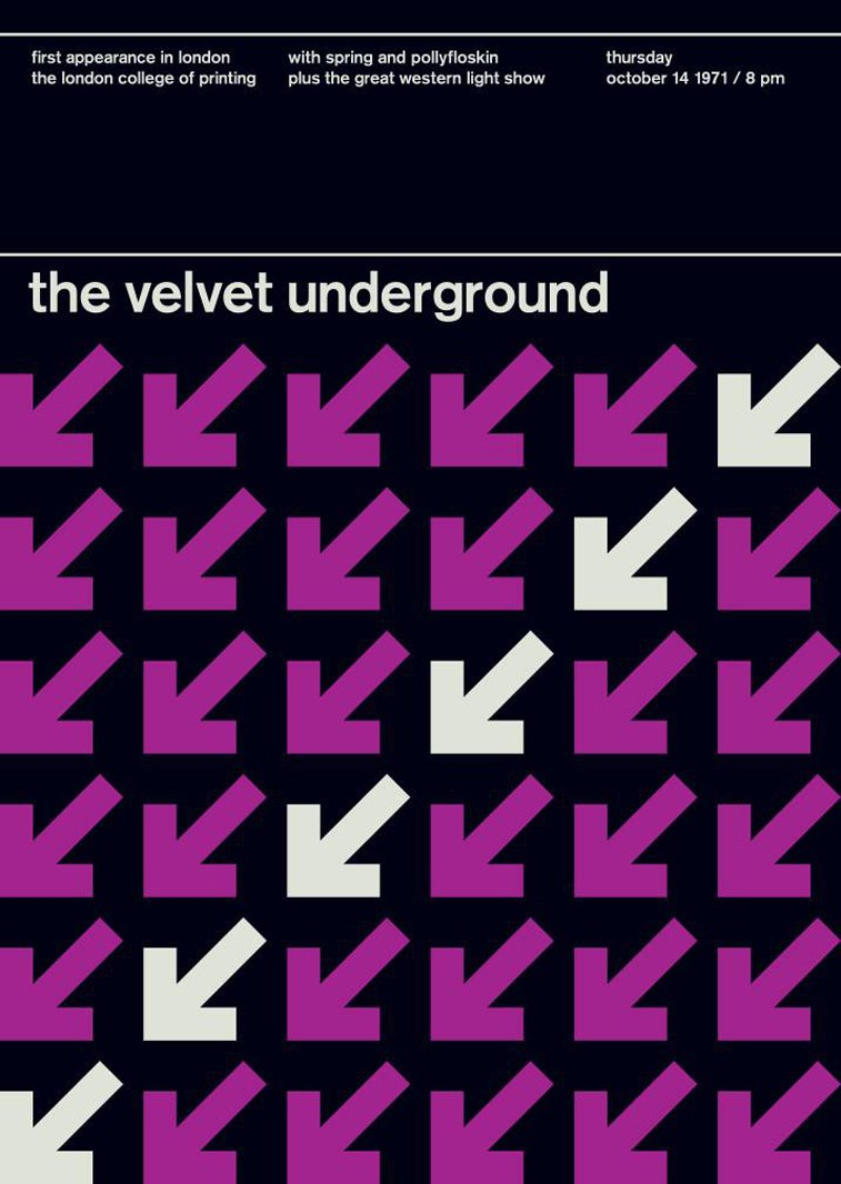 velvet underground 3 swissted poster