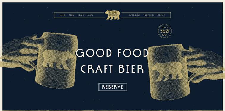 Bay Street Biergarten kreativni sajtovi restorana