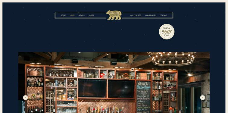 Bay Street Biergarten 360 kreativni sajtovi restorana