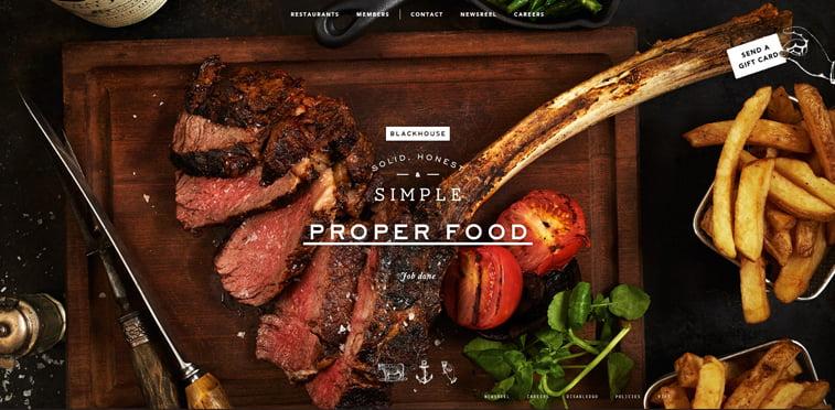 Black House kreativni sajtovi restorana