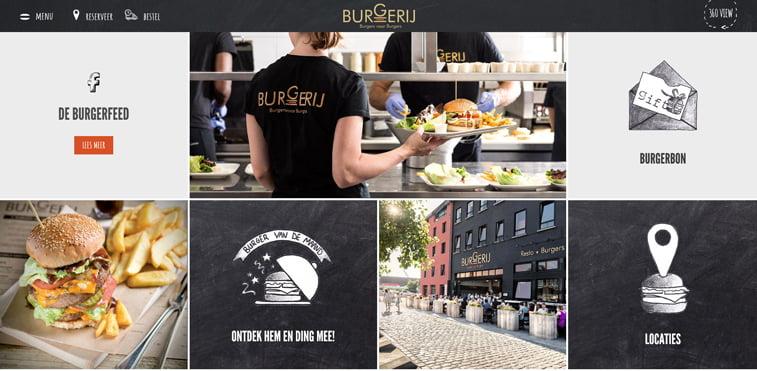 Burgerij kreativni sajtovi restorana