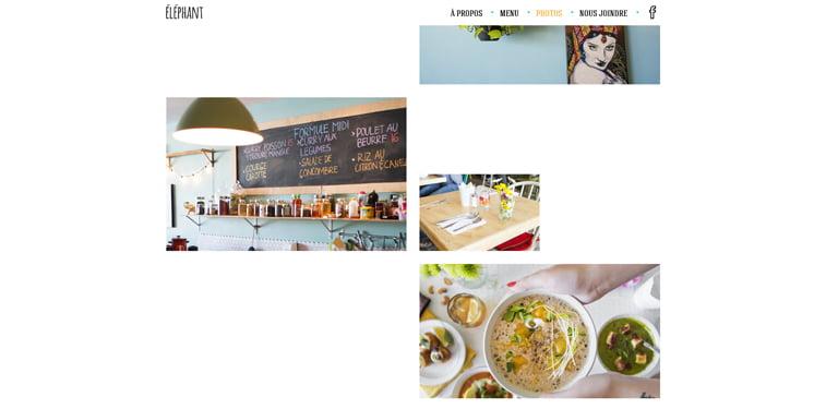 Elephant galerija slika kreativni sajtovi restorana