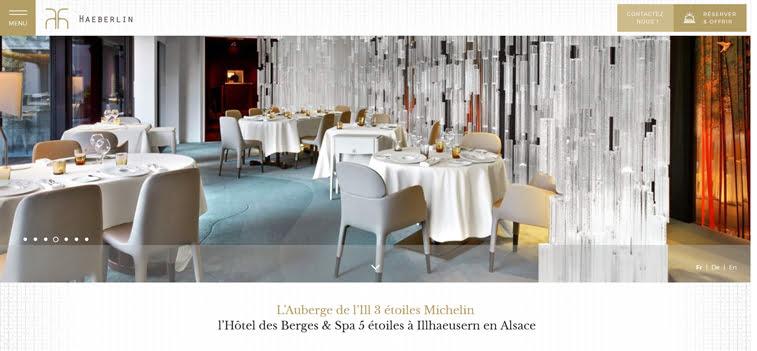 Lauberge de lilll 2 kreativni sajtovi restorana