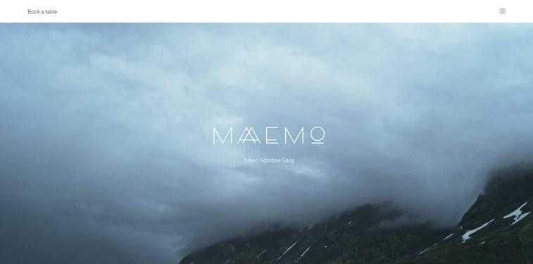 Maaemo kreativni sajtovi restorana