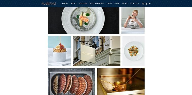 Marianne galerija slika kreativni sajtovi restorana