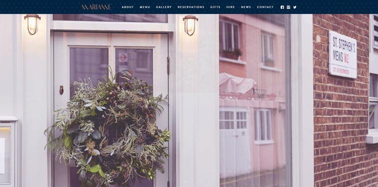 Marianne kreativni sajtovi restorana