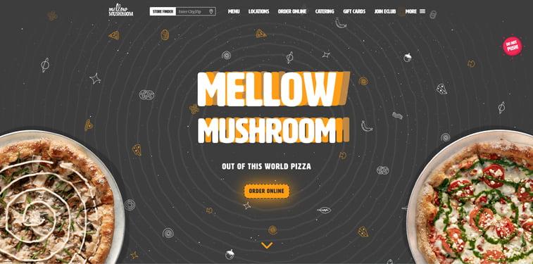 Mellow Mushroom kreativni sajtovi restorana