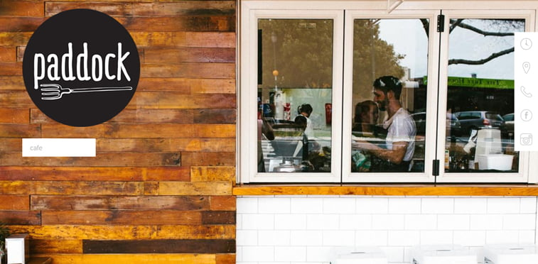 Paddock kreativni sajtovi restorana