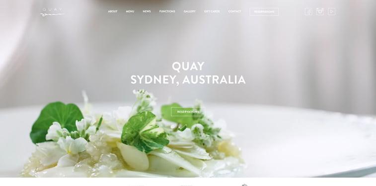 Quay 3 kreativni sajtovi restorana