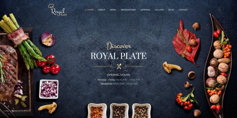 Royal Plate kreativni sajtovi restorana