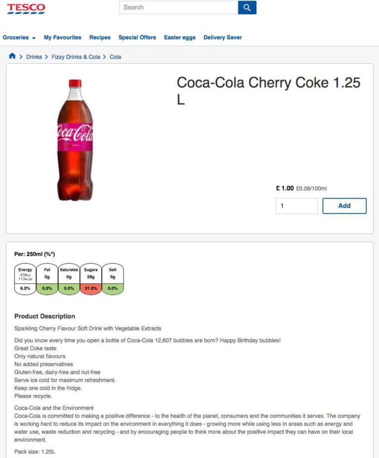 coca-cola gs1 voc markup example