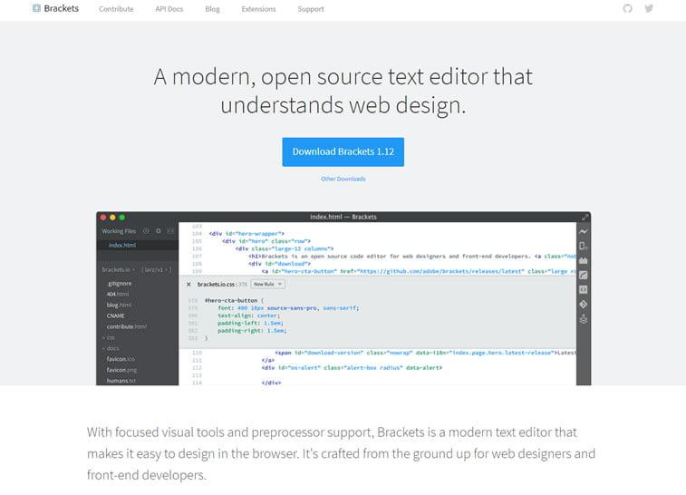 brackets code editor