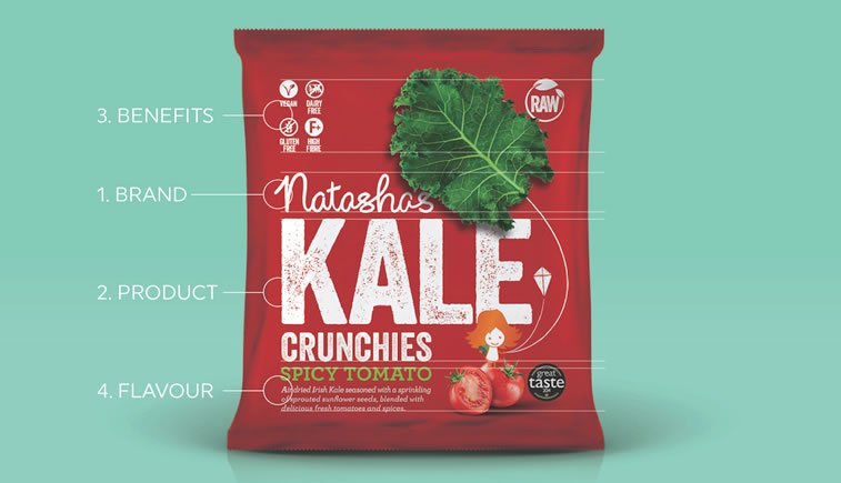 kale healthy snacks packaging 1