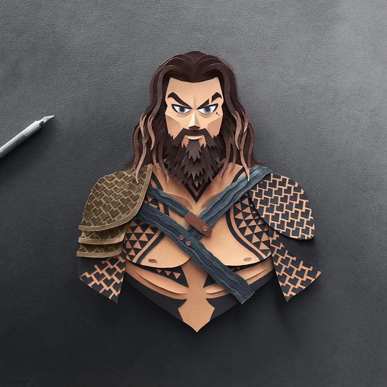 papercuts justice league aquaman