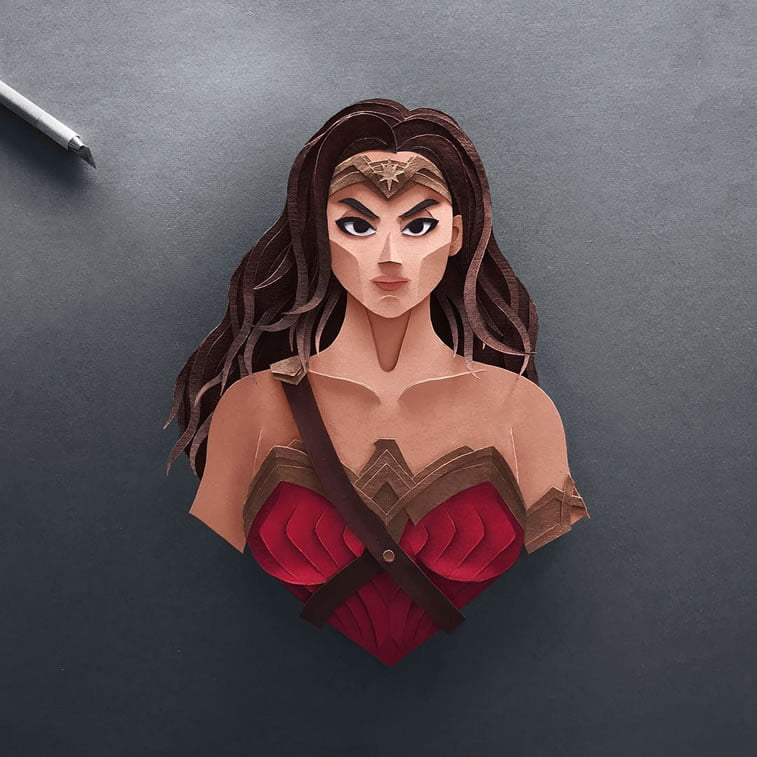 papercuts justice league wonder woman