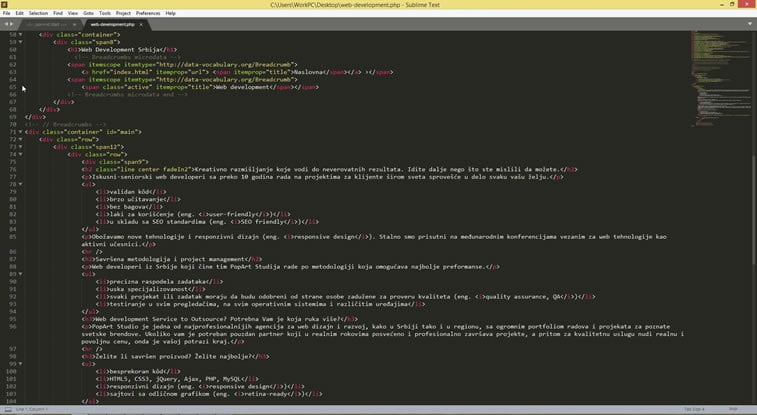 sublime text web development popart studio 2