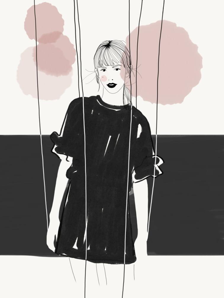 Rocio Vigne baloons modna ilustracija