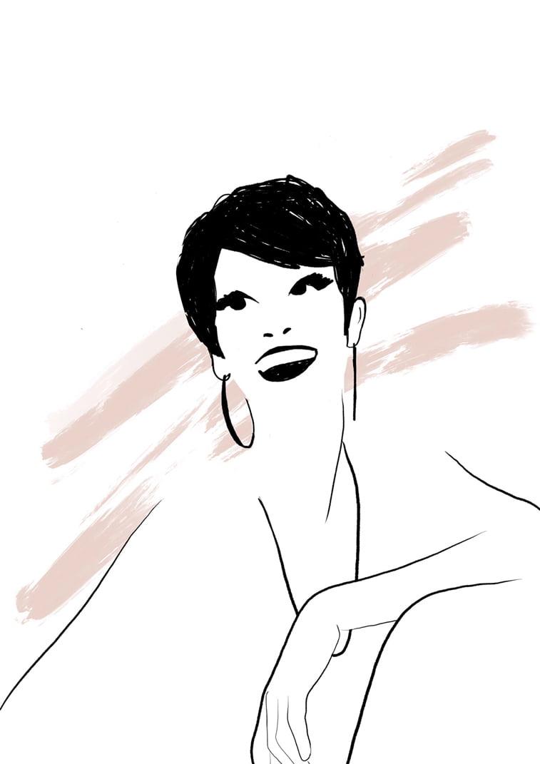 modna ilustracija Rocio Vigne big smile