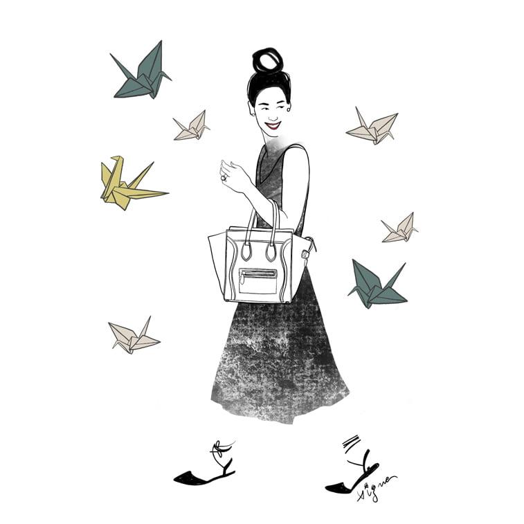 Rocio Vigne black chick 2 modna ilustracija