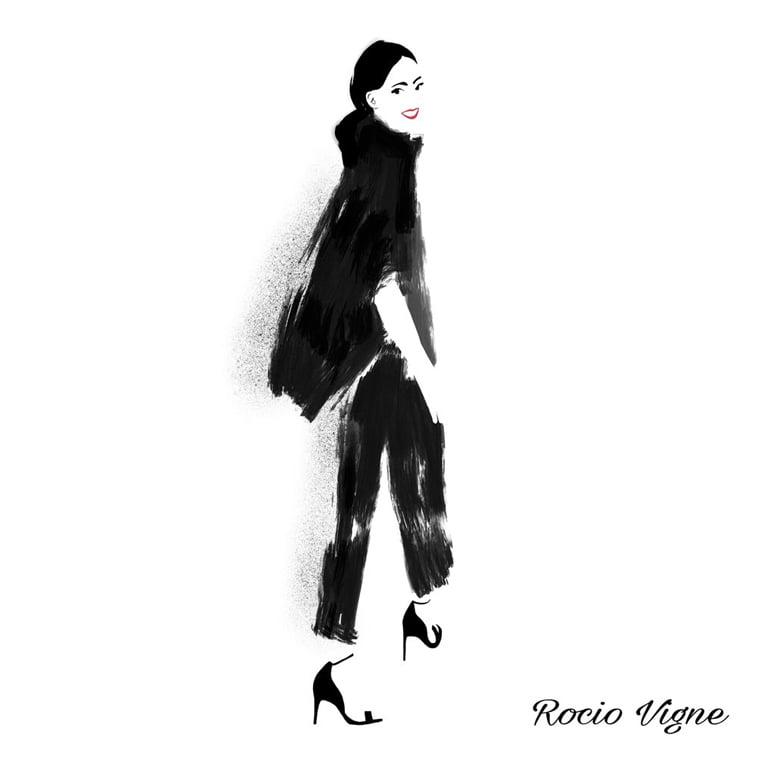 Rocio Vigne black chick modna ilustracija