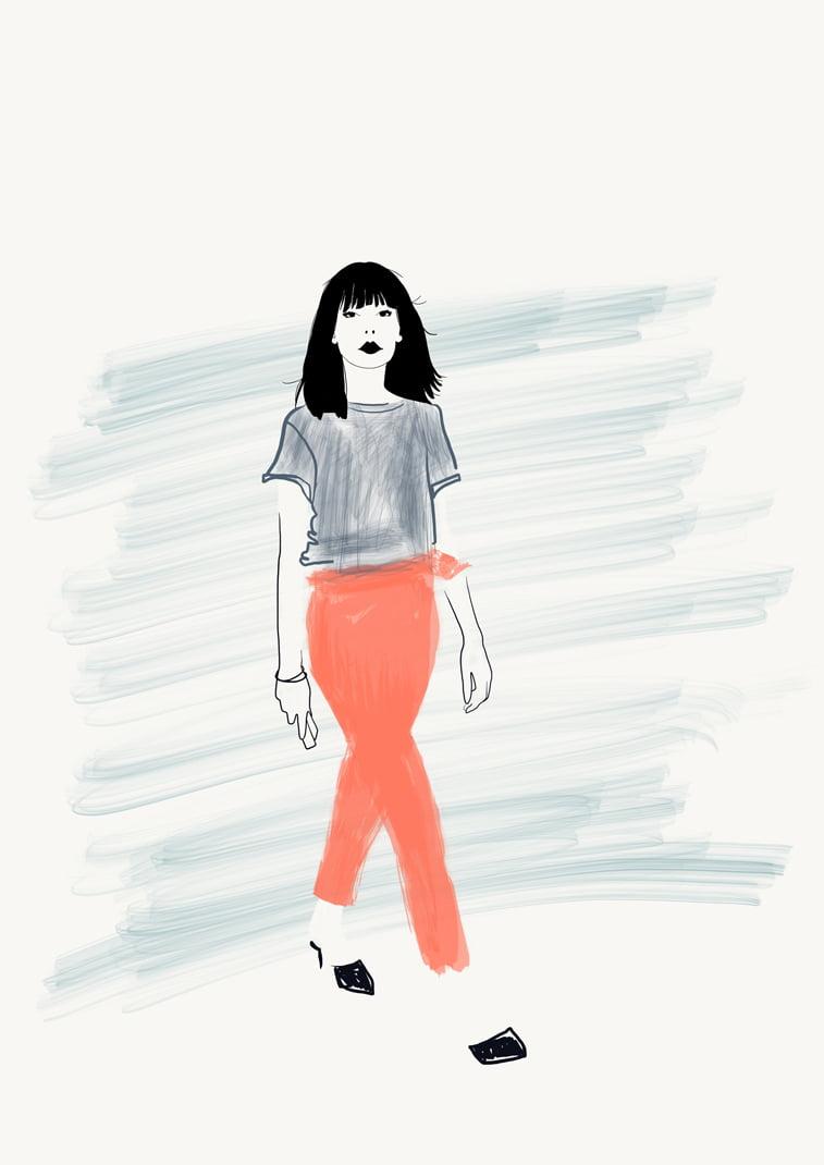 Rocio Vigne casual trousers modna ilustracija