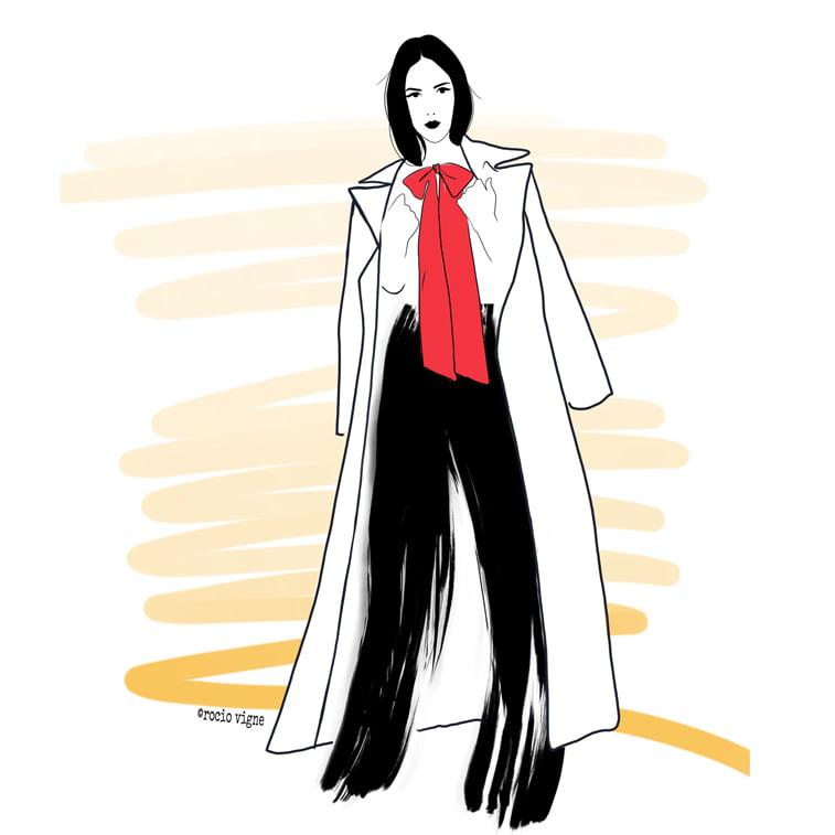 Rocio Vigne classy modna ilustracija