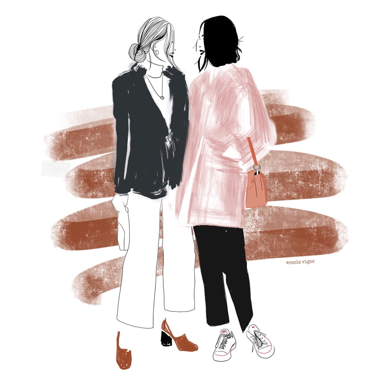 Rocio Vigne duo modna ilustracija