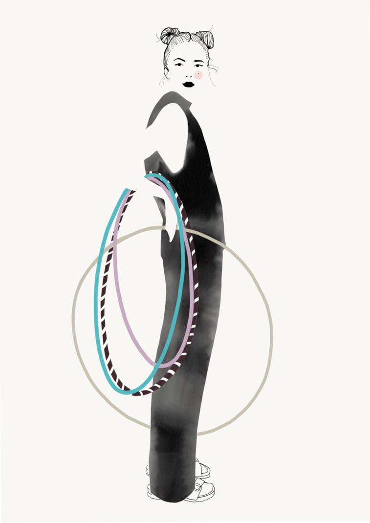 Rocio Vigne hulahop modna ilustracija