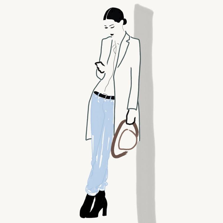 Rocio Vigne red lipstick 2 modna ilustracija