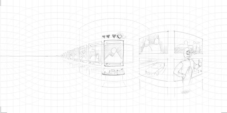 Skice za VR dizajn Inborn Experience Medium