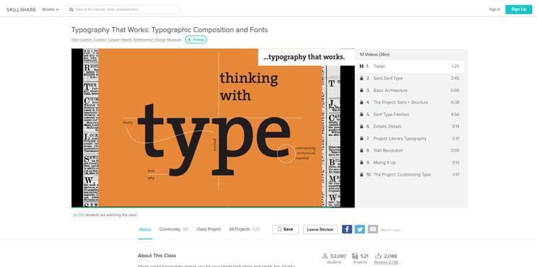 Skillshare Tipografska kompozicija