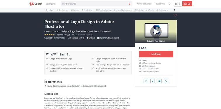 Udemy logo u illustratoru