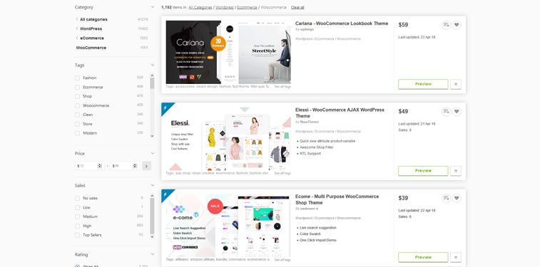 WooCommerce themeforest teme 2