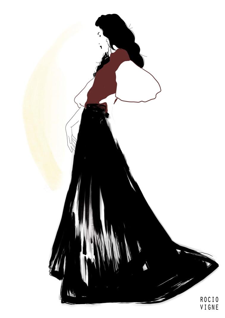 modne ilustracije flamenca web Rocio Vigne