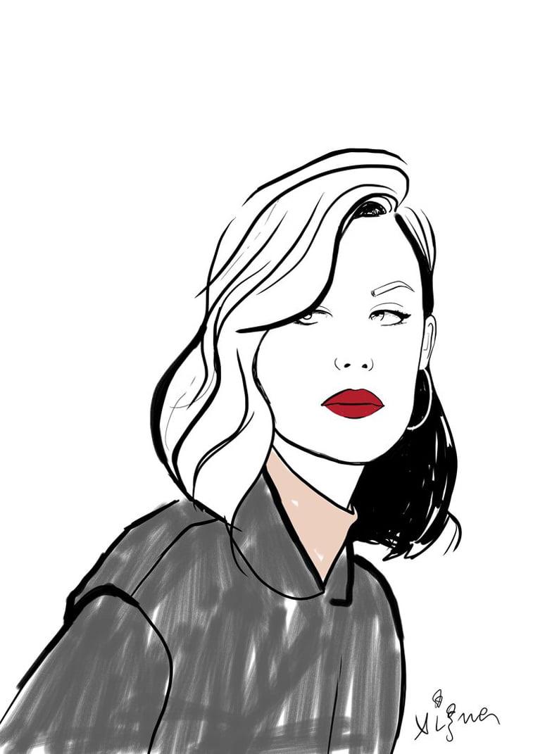 red lips web modna ilustracija Rocio Vigne