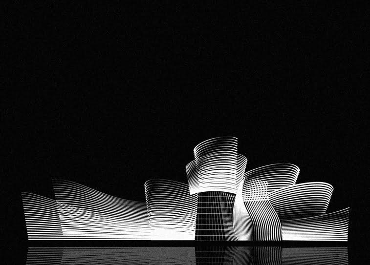 Andrea Minini ilustracije Gugenhajm Bilbao