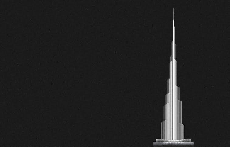 Andrea Minini ilustracije arhitektura Burz Kalifa