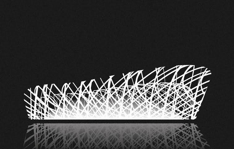 Andrea Minini ilustracije arhitektura Nacionalni stadion u Pekingu