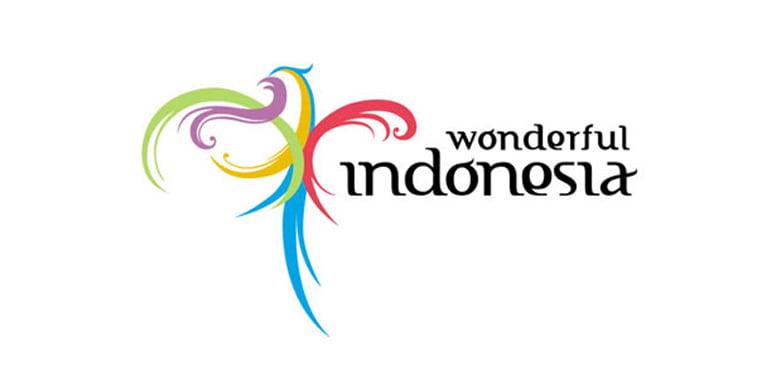 visit indonesia logo dizajn tipografija