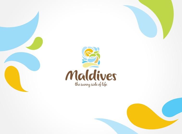 maldivi turizam logo dizajn