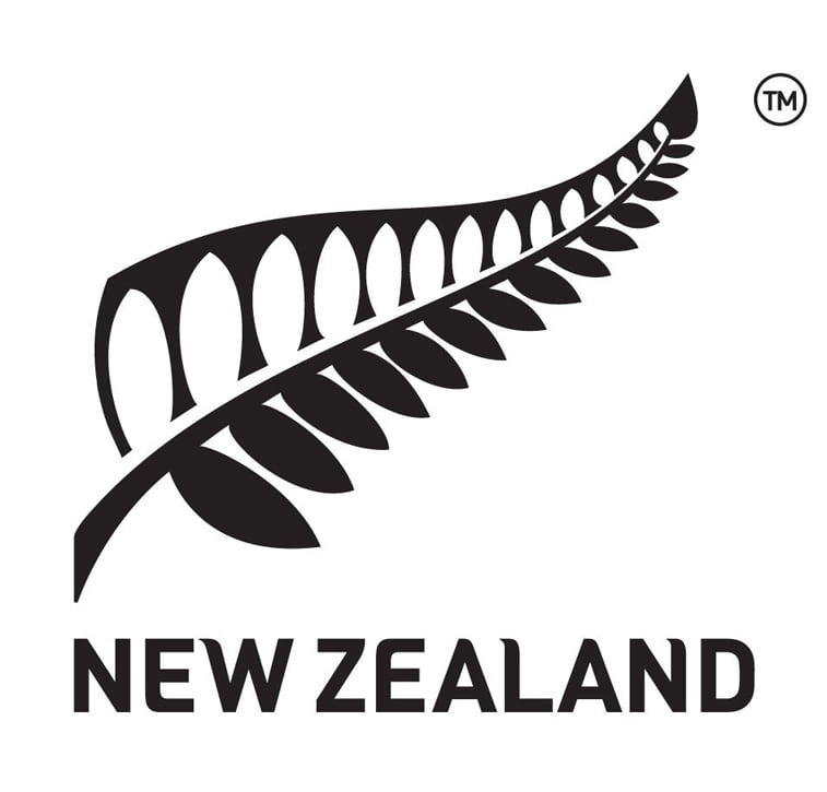visit new zeland black and white logo